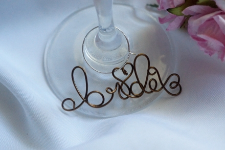 rustic chic bridal shower wine charm bride gift custom colors homes and weddings