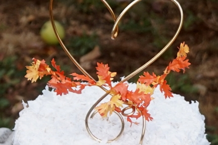 fall cake topper with autumn leaves romantic wedding bridal shower decor homes and weddings