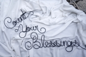 count your blessings wall sign