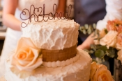 wire hitched cake topper