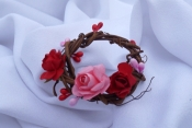 red pink napkin rings
