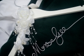 ivory dress hanger personalized