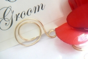 gold swirl table name holder