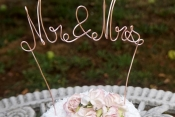 mr mrs wire cake topper tall