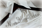 bride hanger with ribbon