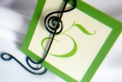 treble clef table number stand