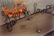fall in love table sign