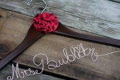 rose gold bride hanger