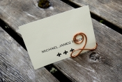 number shaped copper table sign holder