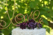 pure copper love wire cake topper
