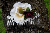 woodland wedding hair comb