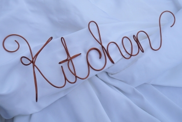 Kitchen Wall Wire Art